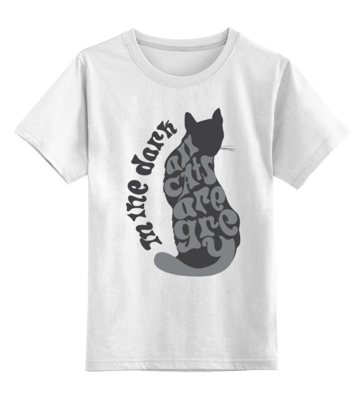 Детская футболка классическая унисекс Printio Gray cat детская футболка классическая унисекс printio black cat