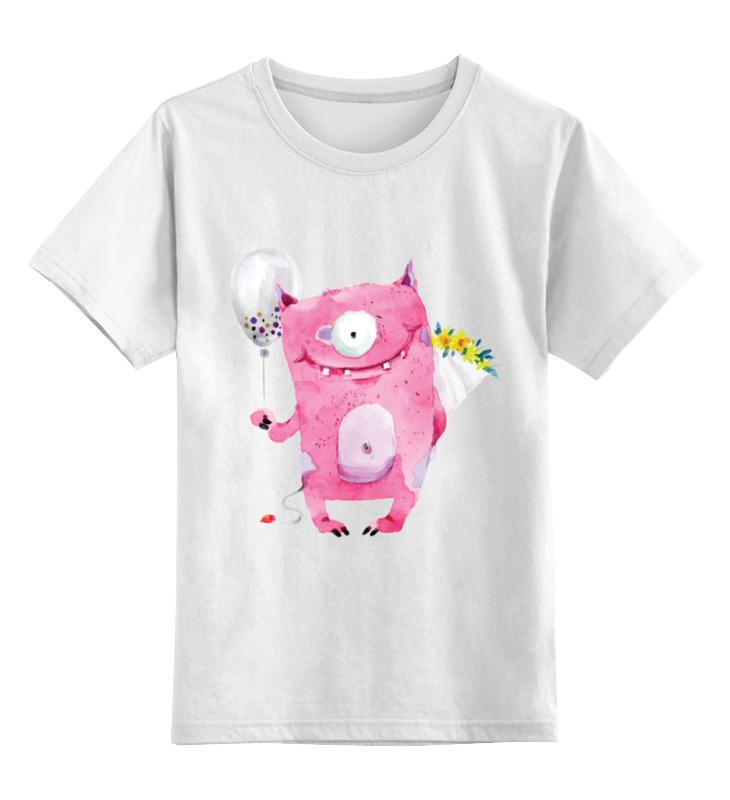 Детская футболка классическая унисекс Printio Милый розовый монстр настольная игра логическая 3 в 1 шахматы шашки нарды магнитные 3704c