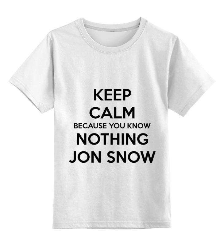 Детская футболка классическая унисекс Printio Jon snow