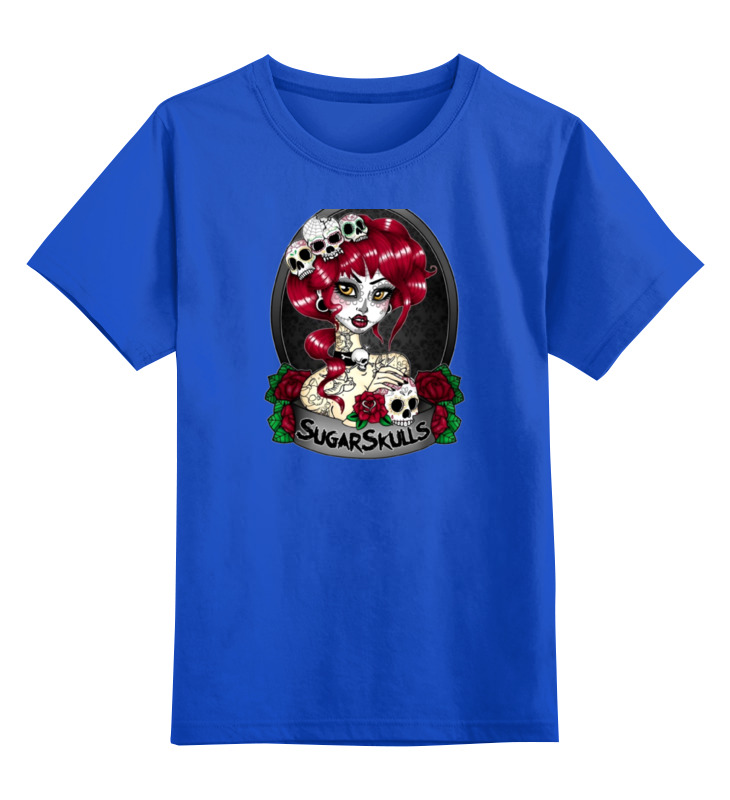 Детская футболка классическая унисекс Printio Девушка с черепами детская футболка классическая унисекс printio девушка с завязанными глазами