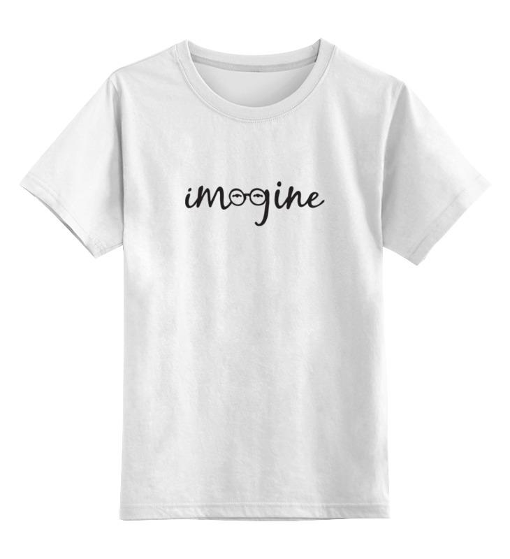 Детская футболка классическая унисекс Printio Imagine (леннон) футболка классическая printio imagine леннон