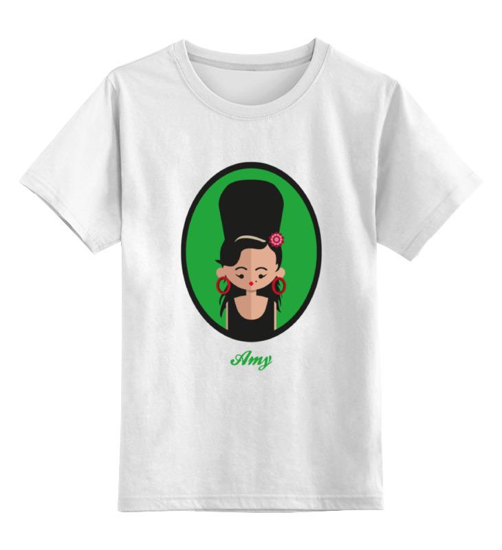 Детская футболка классическая унисекс Printio Эми уайнхаус эми