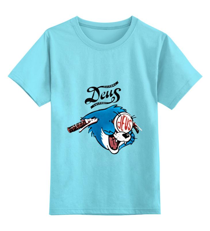Детская футболка классическая унисекс Printio Deus ex customs