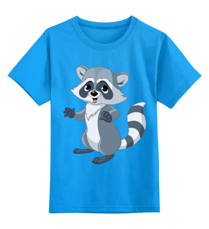 Детская футболка классическая унисекс Printio Забавный енот детская футболка классическая унисекс printio енот