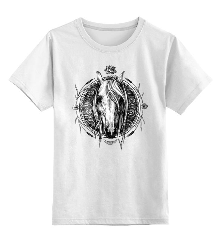 Детская футболка классическая унисекс Printio Речная лошадь бомбер printio лошадь
