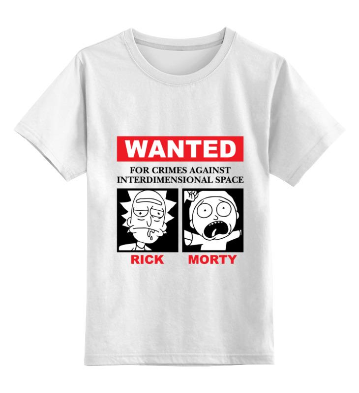 Детская футболка классическая унисекс Printio Рик и морти детская футболка классическая унисекс printio симпсоны рик и морти