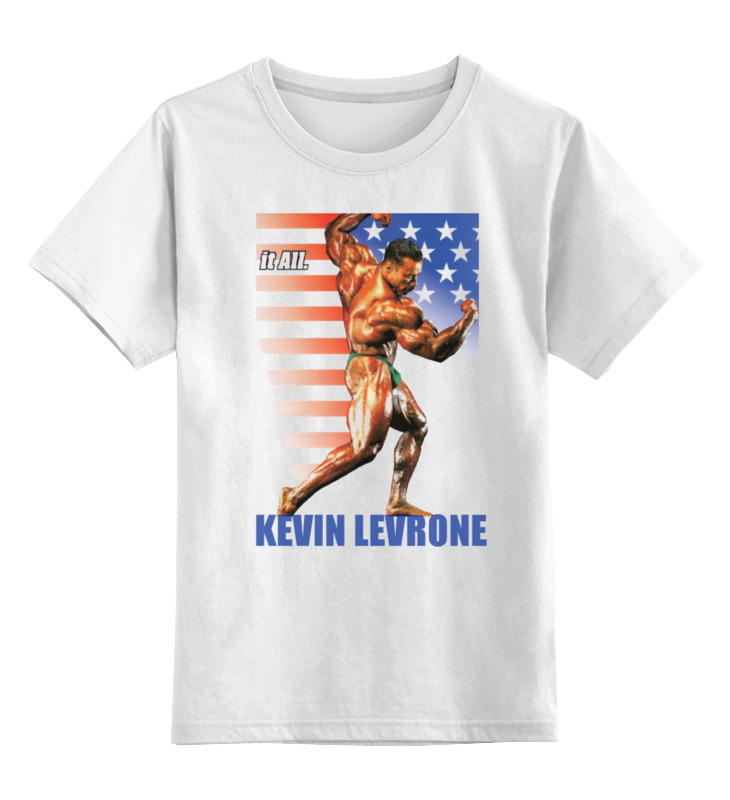 Детская футболка классическая унисекс Printio Kevin levrone / кевин леврон kevin beaver hacking for dummies