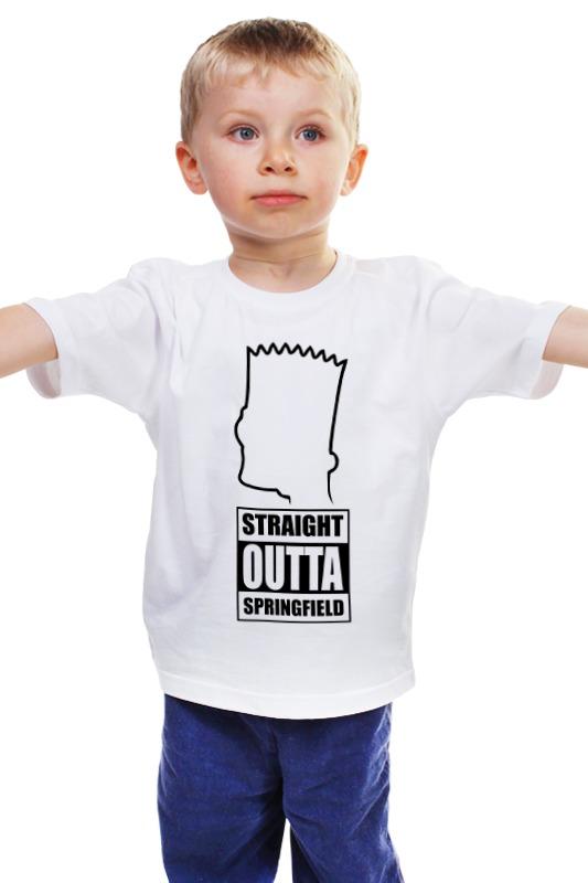 Детская футболка классическая унисекс Printio Барт симпсон (спрингфилд) симпсоны спрингфилд игра как пончики