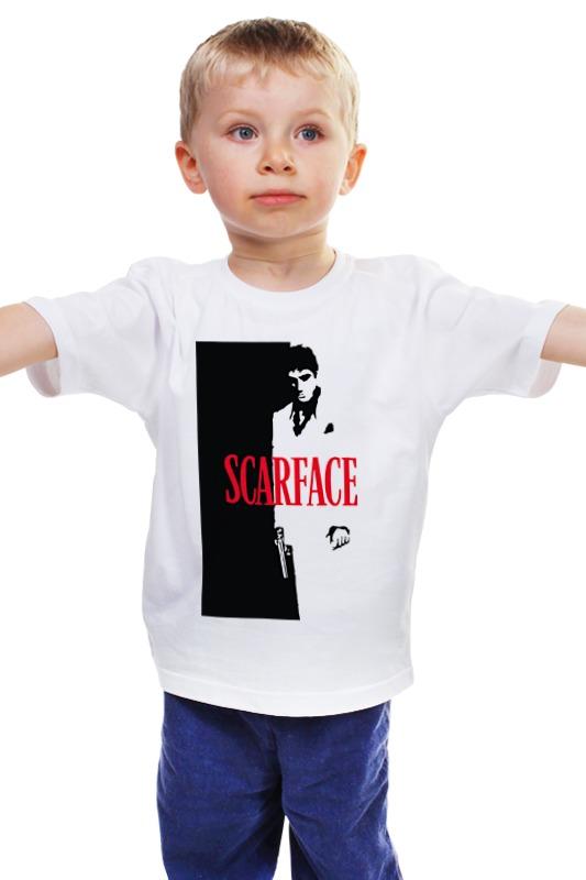 Детская футболка классическая унисекс Printio Лицо со шрамом (scarface)