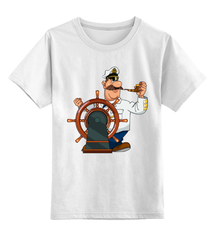 Детская футболка классическая унисекс Printio Капитан врунгель