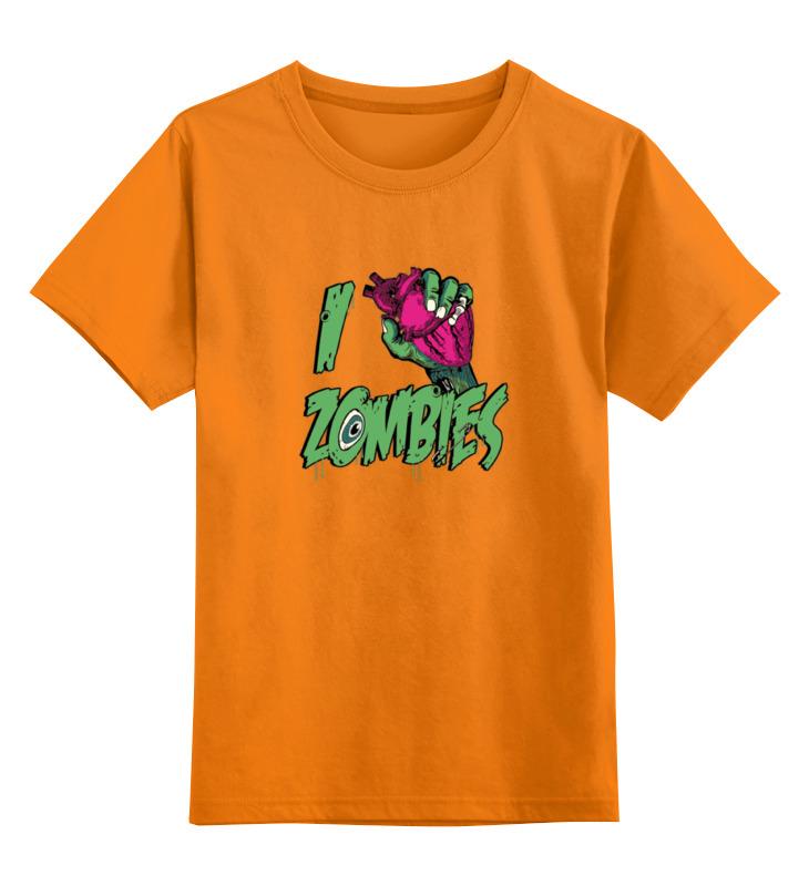 Детская футболка классическая унисекс Printio Я люблю зомби цена и фото