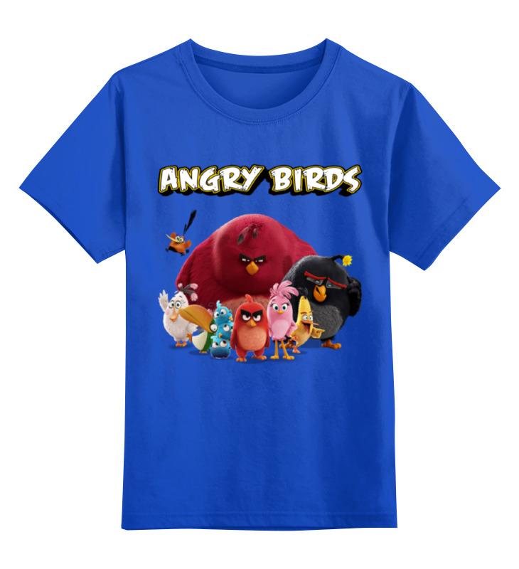 Детская футболка классическая унисекс Printio Angry birds navigator angry birds синий 14 дюймов