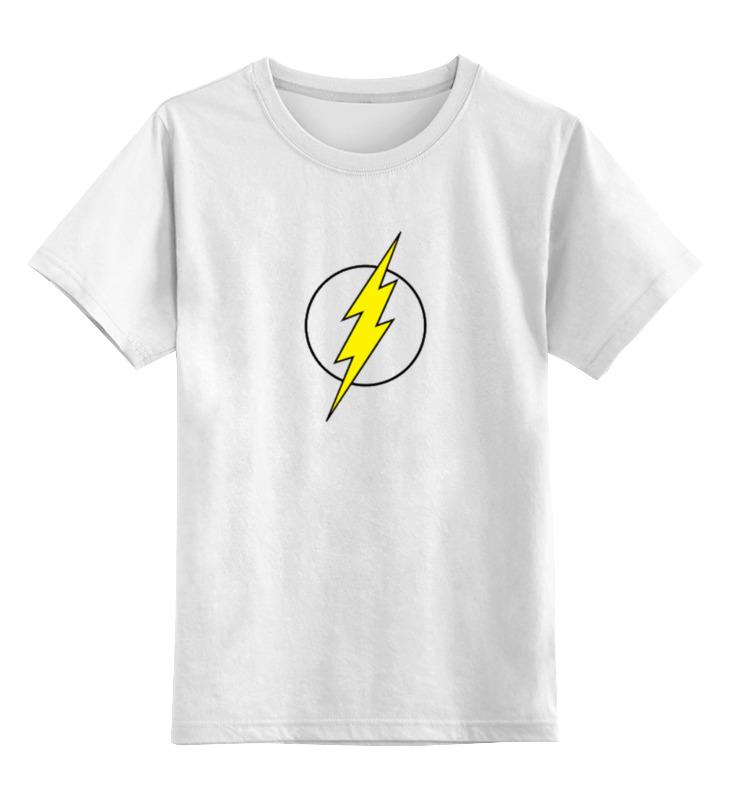 Детская футболка классическая унисекс Printio Молния флэша плащ и маска флэша uni