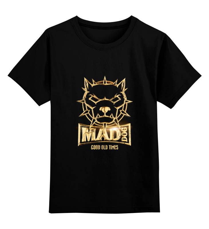 Детская футболка классическая унисекс Printio Mad dog gold детская футболка классическая унисекс printio gta 5 dog
