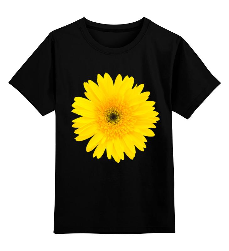 Детская футболка классическая унисекс Printio Желтый цветок цена