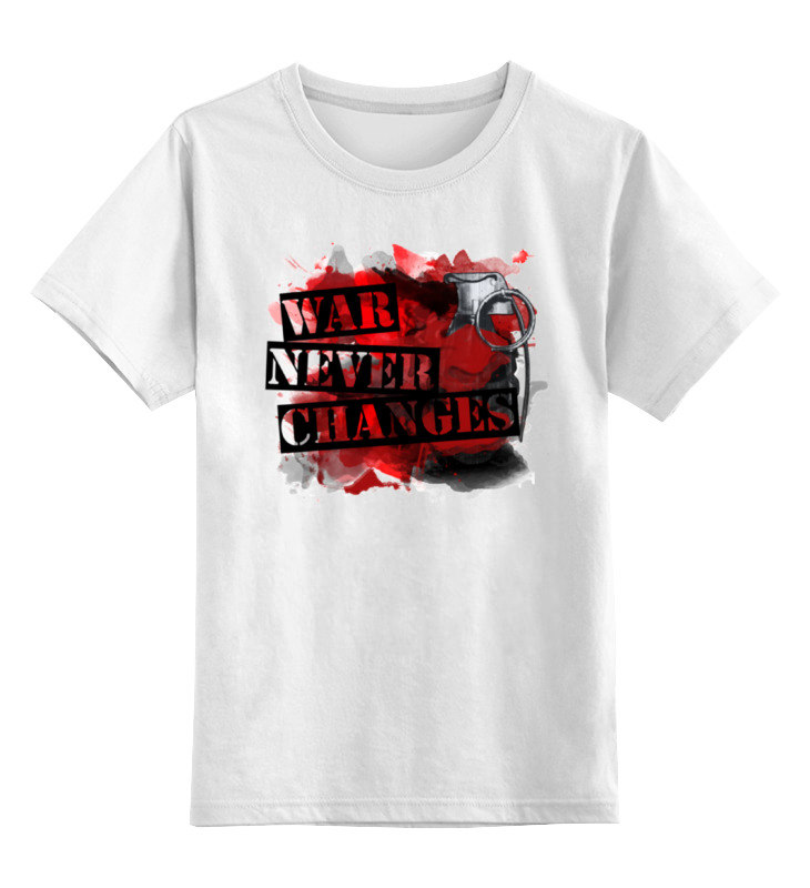 Детская футболка классическая унисекс Printio Война никогда не меняется толстовка wearcraft premium унисекс printio война никогда не меняется