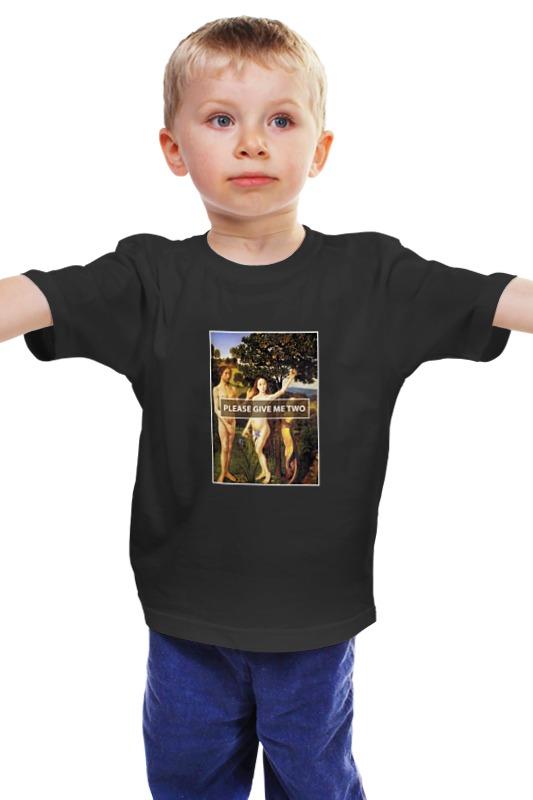 Детская футболка классическая унисекс Printio Please give me two please please me cd