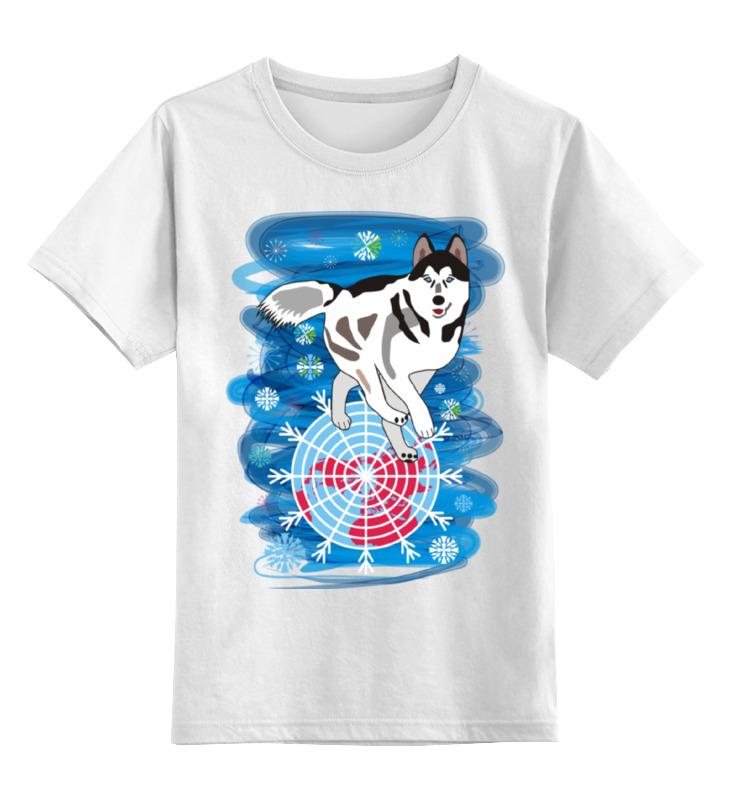 Детская футболка классическая унисекс Printio Бегущая по снегам бегущая строка светодиодная дешево