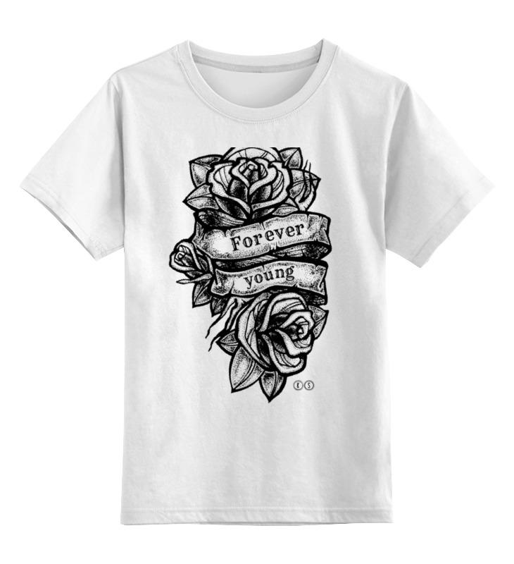 Детская футболка классическая унисекс Printio Forever young