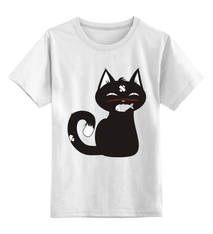 Детская футболка классическая унисекс Printio Котенок-охотник охотник 101