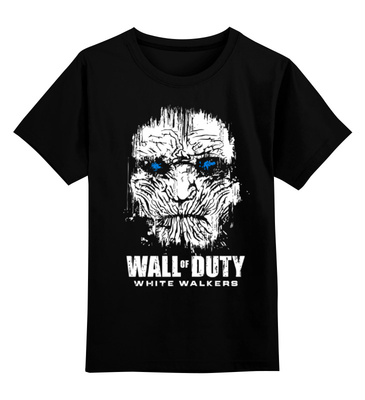 Детская футболка классическая унисекс Printio Wall of duty (white walkers) family wall quote removable wall stickers home decal art mural