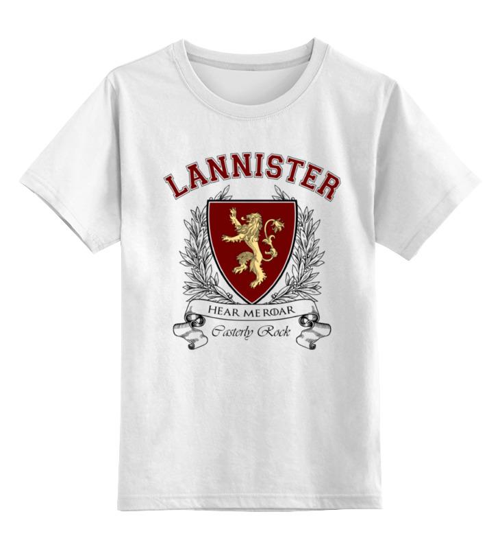 Детская футболка классическая унисекс Printio Игра престолов. дом ланнистеров футболка классическая printio ланнистеры