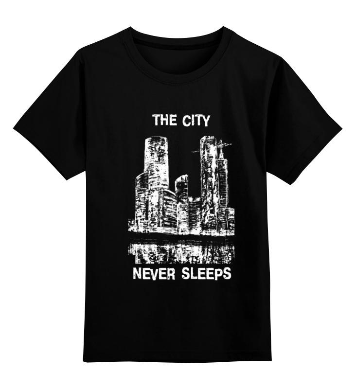 Детская футболка классическая унисекс Printio Moscow-city лонгслив printio moscow city