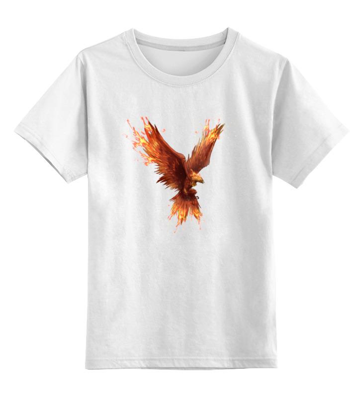 Детская футболка классическая унисекс Printio Птица-феникс