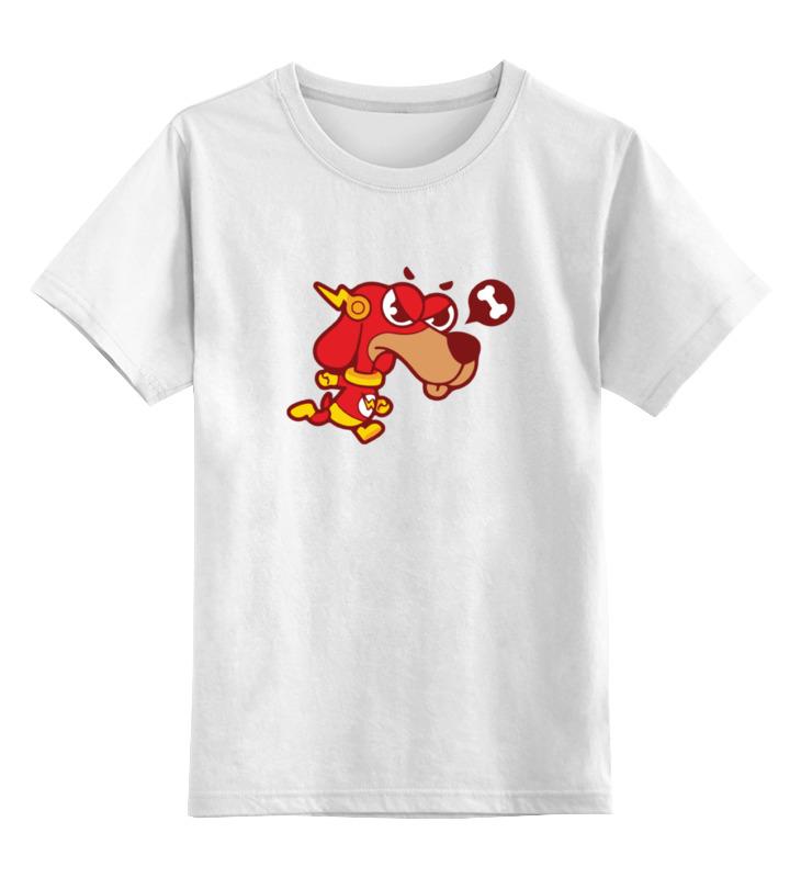Детская футболка классическая унисекс Printio Собака (молния) цена и фото
