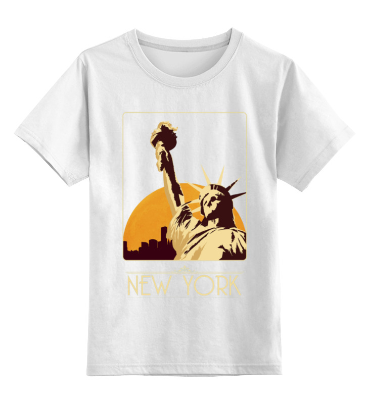 Детская футболка классическая унисекс Printio New york футболка print bar new york apple