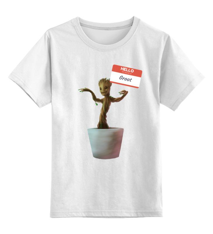 Детская футболка классическая унисекс Printio Привет! меня зовут грут меня зовут лю юэцзинь