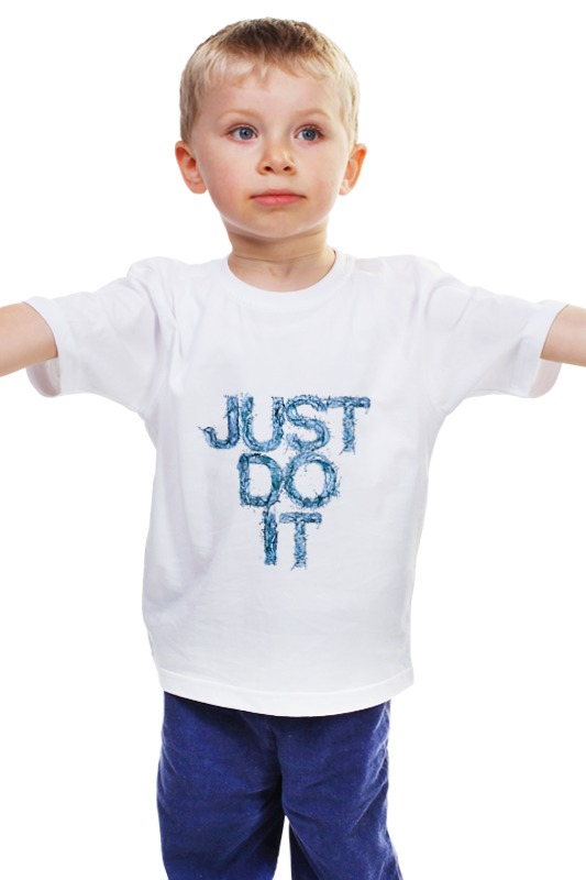 Детская футболка классическая унисекс Printio Just do it they do it with mirrors