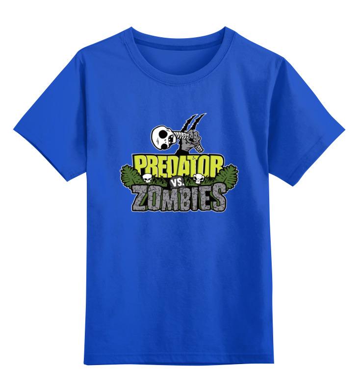 Детская футболка классическая унисекс Printio Хищник против зомби
