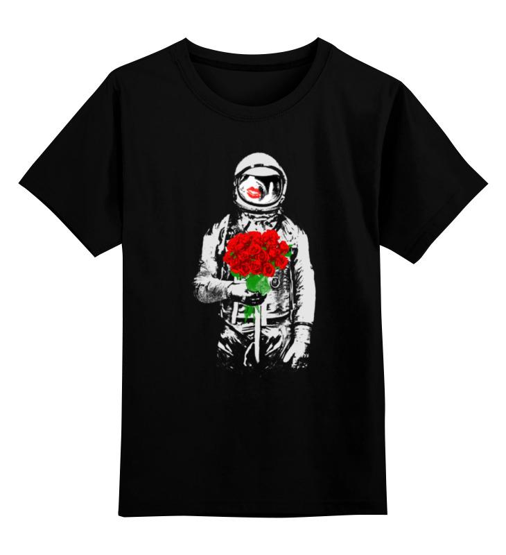 Детская футболка классическая унисекс Printio Букет красных роз