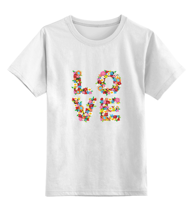 Детская футболка классическая унисекс Printio Любовь