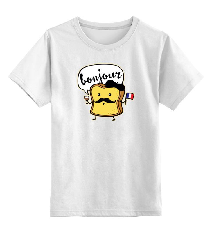 Детская футболка классическая унисекс Printio Французский хлеб
