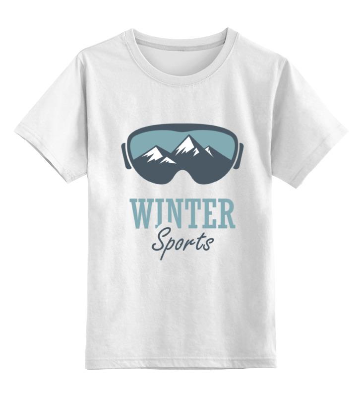 Детская футболка классическая унисекс Printio Зимний спорт (winter sport)