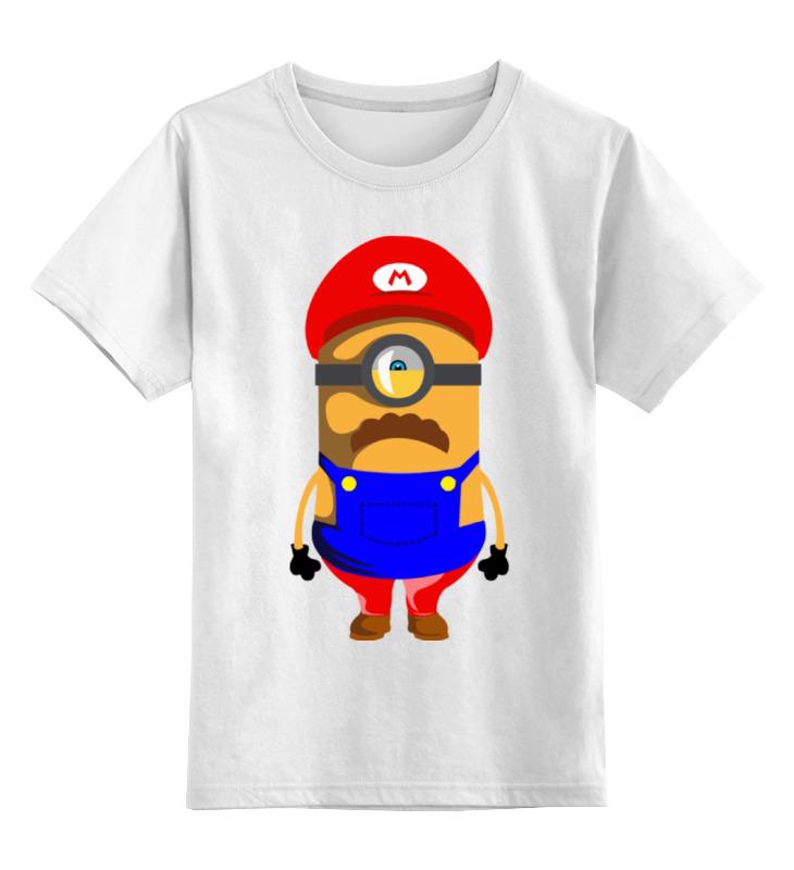 Детская футболка классическая унисекс Printio Марио миньон цена