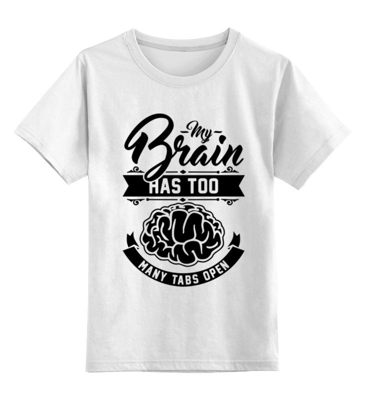 Детская футболка классическая унисекс Printio Мозг (brain) футболка классическая printio the brain eaters