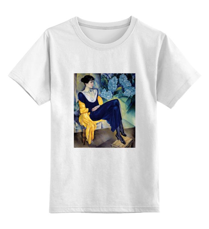 Детская футболка классическая унисекс Printio Портрет а. а. ахматовой (натан альтман) толстовка wearcraft premium унисекс printio портрет а а ахматовой натан альтман