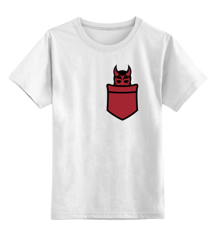 Детская футболка классическая унисекс Printio Дьявол в кармане стоимость