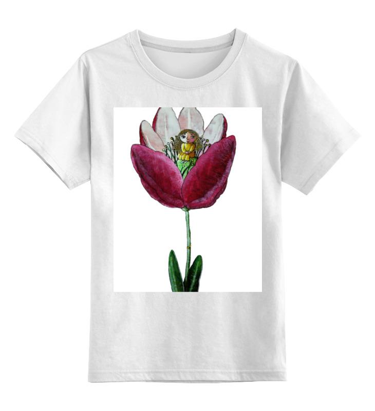 Детская футболка классическая унисекс Printio Моя дюймовочка цены