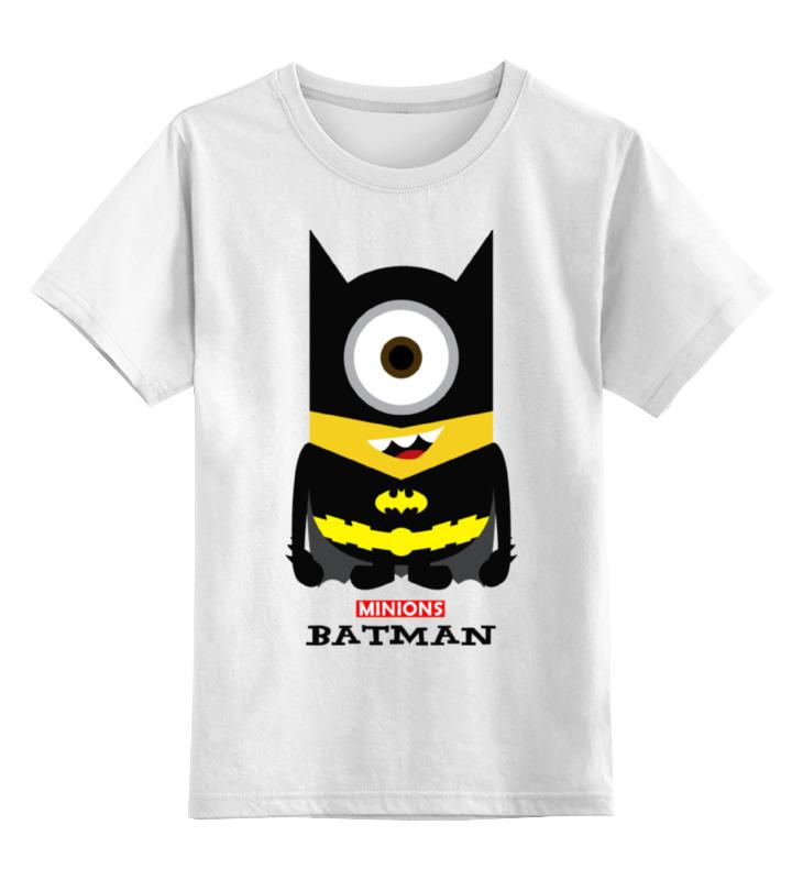 Детская футболка классическая унисекс Printio Minion batman детская футболка классическая унисекс printio batman beyond