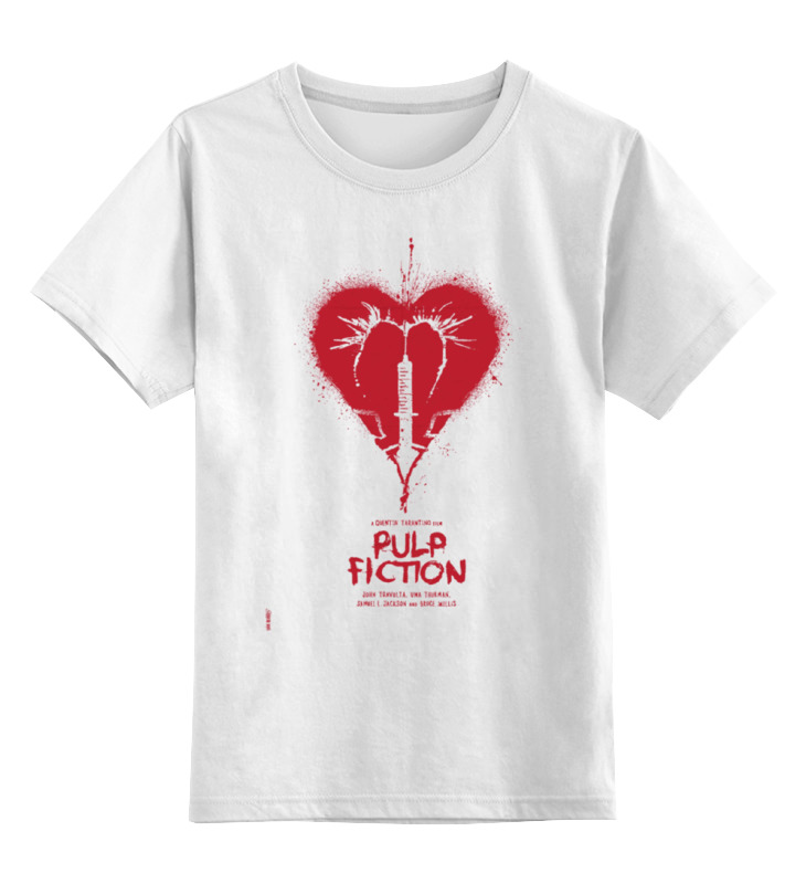 Детская футболка классическая унисекс Printio Pulp fiction - heart