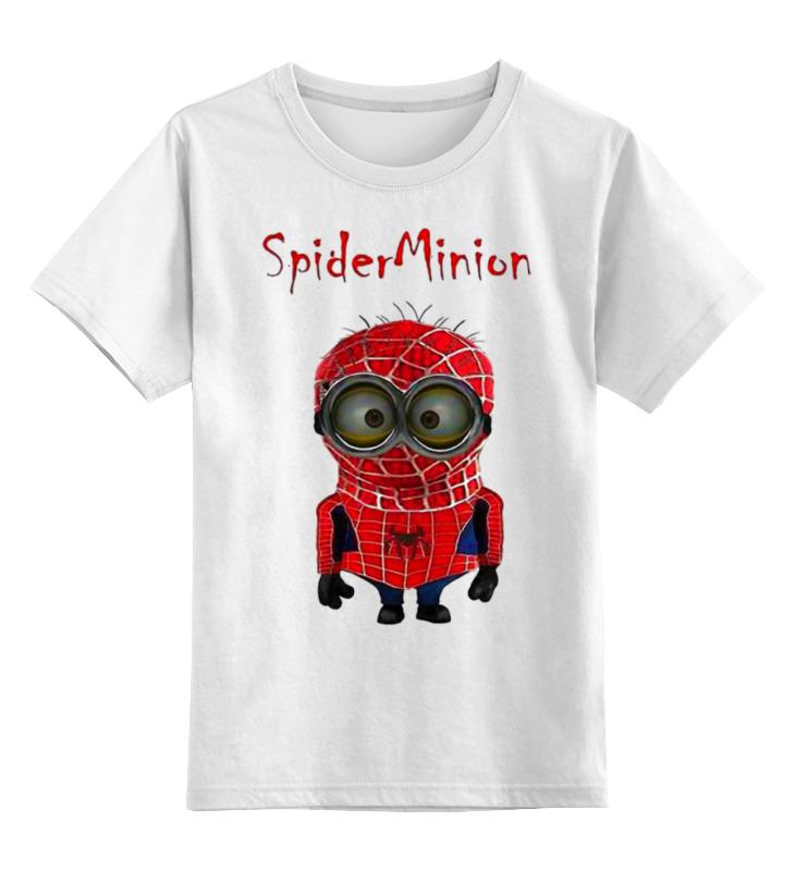 Детская футболка классическая унисекс Printio Spider minion лонгслив printio spider minion