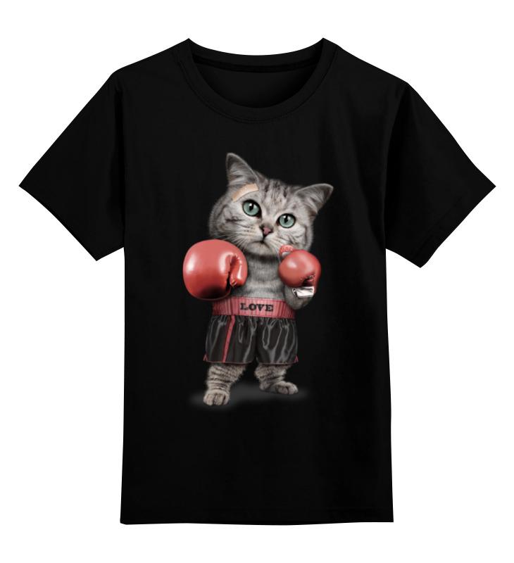 Детская футболка классическая унисекс Printio Кот боксёр