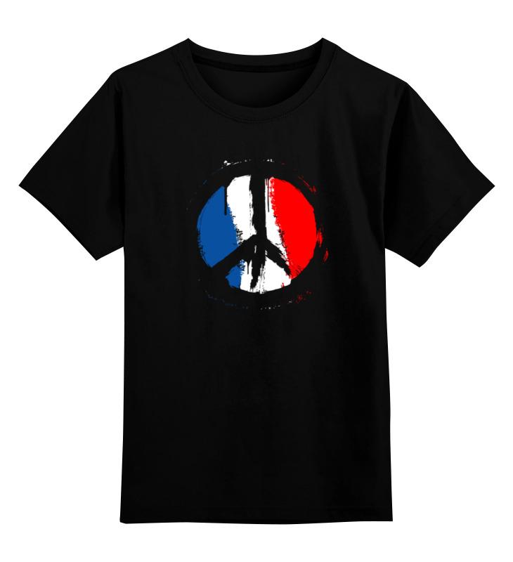 Детская футболка классическая унисекс Printio Мир парижу (peace for paris) детская футболка классическая унисекс printio in paris