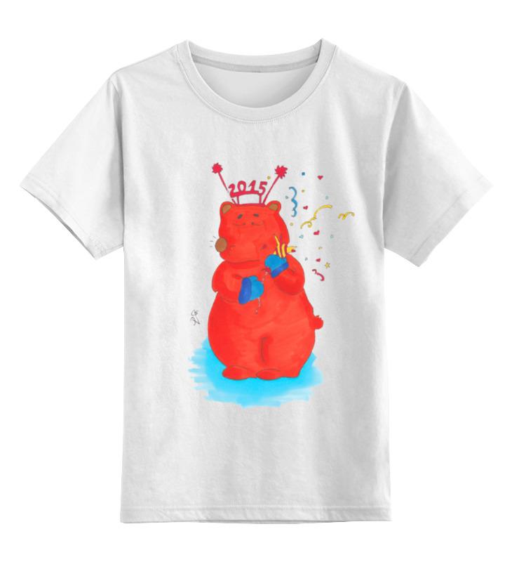Детская футболка классическая унисекс Printio Новогодний медведь футболка классическая printio новогодний лось