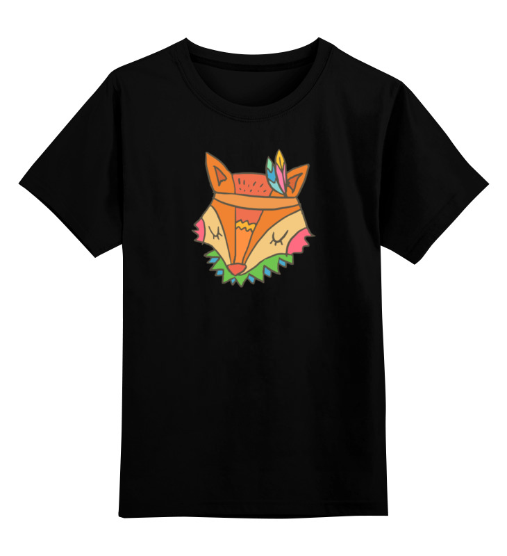 Детская футболка классическая унисекс Printio Этно лиса