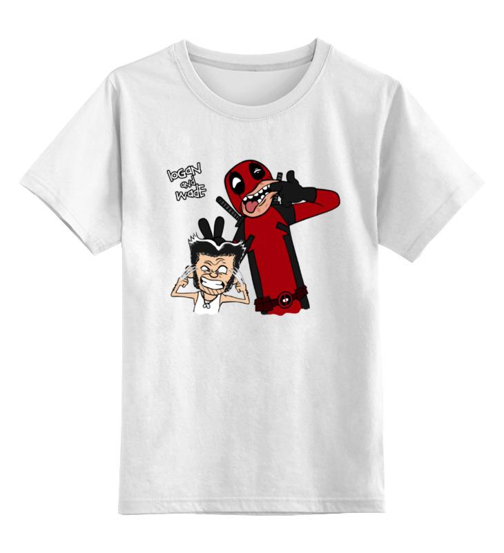 Детская футболка классическая унисекс Printio Дэдпул и росомаха детская футболка классическая унисекс printio сникт росомаха